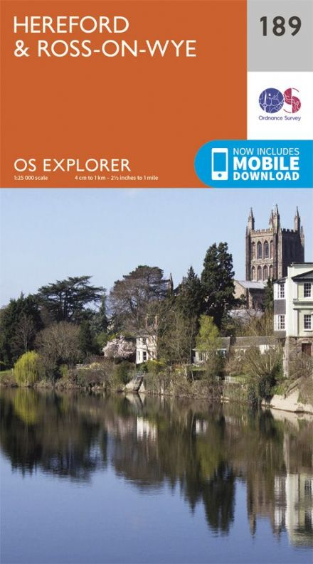 OS Explorer 189 - Hereford & Ross on Wye